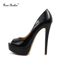 Brand Elegant Pumps Hot Sale Summer Lady Black White Platfor...