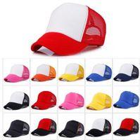16 colori Cappellino per berretti da baseball per adulti Cappellini per berretto per adulti Cappelli per camionista in bianco Cappelli per snapback Acept Logo su misura 10 pz