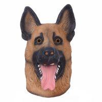 Хэллоуин Собака Голова Латексная Маска Смешно Дышащий Анфас Глава Маска Косплей Маска Необычные Платья Фестиваль Партии Маски