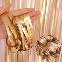 Folha de ouro fosco folha metálica franja brilhante chuva cortina decoração de casamento decoração fotografia fundo suprimentos qw8692