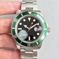 Toptan-MENS saatler 116610 Yeşil Siyah S-U-Otomatik hareket yüksek kalite İZLE ERKEKLER kol ÜCRETSIZ KARGO