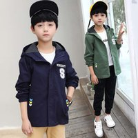 Spring Children Coat Autumn Kids Jacket Boys Outerwear Coats Active Boy Casual Windbreaker Hooded Jackets Baby Boys Clothes