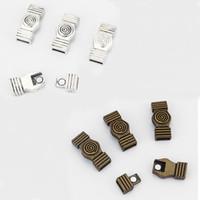 3 Conjuntos de Bronce Antiguo / Plata Remolino Fuerte Cierre Magnético Para 5mm 10mm Cable de Cuero Plana Accesorios de Joyería Hallazgos