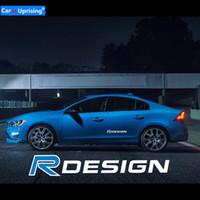 2 stücke NEW R DESIGN Auto Seitenfender Emblem Abzeichen Aufkleber für Volvo V40 V50 V60 V70 S80 XC40 XC60 XC90 S60 S90 Auto styling