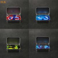 gomma siliconica 4 in 1 kit con contenitori 1pcs latta 2pcs scatola 5ml dab strumento dabber dab vaso per bho cera dell'olio vaporizzatore