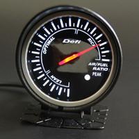 Бесплатная доставка 60 мм 2.5 дюймов DEFI BF стиль гоночный датчик автомобиля воздуха / топлива метр с Красный Белый Свет воздуха соотношение топлива датчик