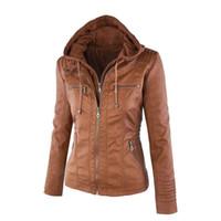Kadın PU Ceket Palto PUNK Streetwear İnce Deri Ceket Cep Tasarım Kadın Dış Giyim Kısa Ceket Kadınlar Giyim PLUS SIZE XS-7XL