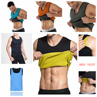 Hommes Body Shaper Gilet Gym Néoprène Sauna Ultra Mince Minceur Corset Sweat Shirt Body Shaper Mince Ventre Ventre AAA98