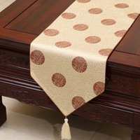 Short Long Jacquard Chinese Silk Brocade Table Runner Decorative Small Damask Table Cloth Rectangular Table Mat Coffee Tea Pads 150x33 cm