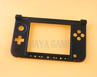 Cerniera di ricambio Parte inferiore nera Guscio centrale / Custodia Custodia C Cornice centrale per 3DS XL LL nera