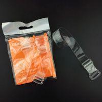 Claro 200pairs la correa del sujetador de 1,5 cm de ancho transparente invisible del sujetador correas de hombro extensor de envío