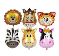 Mini animal head Foil Balloons inflatable air balloon happy ...