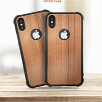 Suave TPU Slim Wooden Pattern Grain Design Luxury Mobile Phone Funda de madera Vintage Texture Cover para iPhone X 8 7 6 6S Plus