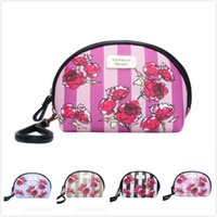 5 colors Pink Cosmetic Makeup Bag Train Case Classic Portabl...