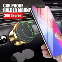 2018 360 درجة تناوب حامل الهاتف المغناطيسي سيارة سبائك الألومنيوم الهواء تنفيس سيارة جبل حامل الهاتف المحمول للهواتف الذكية أندرويد فون