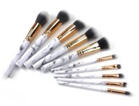 10pcs set marble Makeup Brushes 10pcs Professional Cosmetic ...