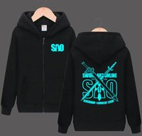 Mens Anime Fashion Winter Autumn Sword Art Online Hoody Blac...