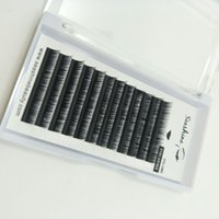 Seashine envío gratis calidad premium de seda de imitación de visón pestañas individuales clásicas 8 mm a 15 mm volumen ruso extensiones de pestañas