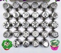 30 peças / set Russa Dicas de Tubulação de Design de Natal Confeção de Piping Tips Set Bolo decoração Suprimentos Russa Bicos de Pastelaria Ferramenta de Cozimento SN1581