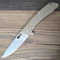 Y-START LK5013-S Couteau Pliant Tactique Survie En Plein Air Camping Bushcraft Couteau De Poche 440C lame G10 Poignée Liner Lock