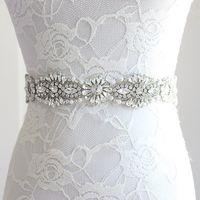 Nuevos accesorios de boda Cinturón Faja nupcial Princesa de la boda Cinturón de diamantes de imitación Chica Flor Dama de honor Vestido Faja Cinta de varios colores SW66