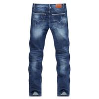 Erkekler Kot Iş Rahat Ince Yaz Düz Slim Fit Mavi Kot Streç Denim Pantolon Pantolon Klasik Cowboys Genç Adam Sıcak satış