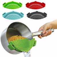 Cucina in silicone Scolapasta Lavaggio Riso Scolapasta vegetale Filtro a scatto Cucina Tagliatelle Frutta Lavaggio Scolapiatto Utensile da cucina
