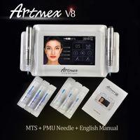 Hohe Qualität Artmex V8 Digital Permanent Makeup Tattoo Kunst Maschine Augen Rotary Pen MTS PMU System Touchscreen