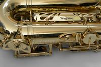 Yeni YANAGISAWA WO10 A-991 Alto Eb Ayarlama Saksafon Pirinç Gövde Müzik aletleri Altın Vernik Yüzey Sax ile Vaka Ağızlık Aksesuarları