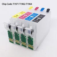 T1971 T1962-T1964 многоразового картриджа с чип сброса для Epson XP211 XP411 XP201 XP401 XP101 XP204 XP214 ВФ-2532 без чернил