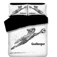 2018 3D Bedding Set 3pcs Sporting Footballer Running Footbal...