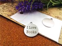 """40pcs - """"Eu amo livros"""" encantos de aço inoxidável mais de estilo para escolher Encantos pingentes DIY para colar"""