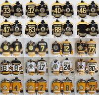 Boston Bruins Jersey Hockey 33 Zdeno Chara 37 Patrice Bergeron Tuukka Rask David Krejci Torey Krug 4 Bobby Orr 8 Cam Neely 77 Ray Bourque