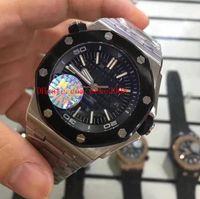 3 스타일 고품질 시계 로얄 Oak Offshore 44mm 15703 15703st.oo.a002ca.01 스테인레스 스틸 아시아 기계 자동 망 남자의 시계
