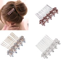 BODA BRIDAL JOYA DE CRISTAL DIAMANTE PELO COMBINADOR CLIP DIAPOSITIVA FASCINATOR HAIRPIECE