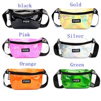 6 Colors PINK Letter Fanny Pack Waist Rainbow Hologram Shiny...