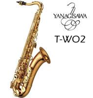 Japonya Yanagisawa T-WO2 Tenor Saksafon | Bronz Pirinç | Kılıf ile Yepyeni Altın Lak Anahtar B Düz Sax