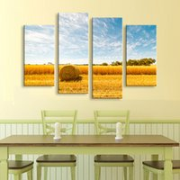 Painting & calligraphy Golden wheat field canvas poster wall...
