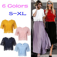 New Fashion Women Lace Top Jacket Belore Short Sleeves Summe...