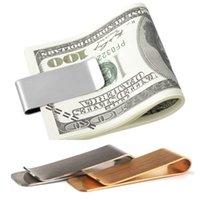 Alta qualidade de aço inoxidável de bronze Clipe de dinheiro Titular de bilhete de notas de banco pode personalizar o logotipo em lotes.
