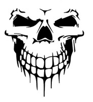 10 ADET Kafatası Araba Sticker Araba Yan Kapı Hood Kapak Komik Karton Dacel Büyük Boy Kafatası Ücretsiz Nakliye Epackage Tarafından