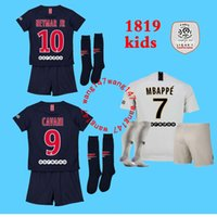 2018 2019 kids kit Paris PSG mbappe soccer Jerseys 18 19 hom...