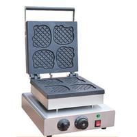 Qihang_top Elektrikli Kedi Şekli Waffle Makinesi Makinesi Gıda İşleme Ticari Karikatür Kedi Şekli Waffle Yapma Makineleri