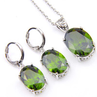 Novel Luckyshine 5 Sets Fashion Vintage Fire Peridot Cubic Z...