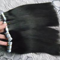 Лента в цвете 200g/80Pcs выдвижения волос естественном 16 до 24 дюймов прямой ленты волос Remy бразильской в человеческих волосах