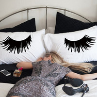 Black  White 2 Sided Printed Eyelash Pillow Case , 20x30 &quo...