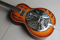 Ücretsiz kargo! Toptan jay turser jtres / str elektrik resonator gitar Sunburst 120105 Içinde