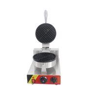 Tek Kafa Waffle Koni Makinesi Ticari Elektrikli Mini Dondurma Waffle Koni Makinesi Waffle Kağıt Pan Küçük Snack Ekipmanları