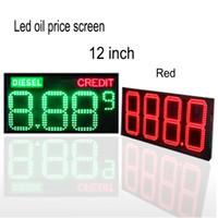 Segno del prezzo del prezzo del petrolio del gas di 12 pollici di colore rosso 12 pollici