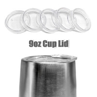 9OZ Egg Cups Lids Clear Food Grade PP Wine Glasses Lid Repla...
